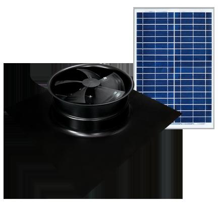 Solar Powered Attic Fan - Gable Series